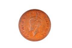Uitstekende George 6 muntstuk Royalty-vrije Stock Foto's