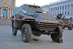 Uitstekende gepantserde sovjetauto, Stock Fotografie