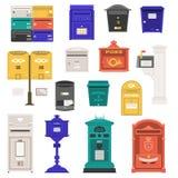 Uitstekende Geplaatste Brievenvakjes en Postboxes stock illustratie