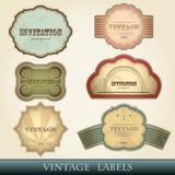 Uitstekende geplaatste etiketten Royalty-vrije Stock Foto's