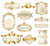 Uitstekende geplaatste Etiketten Royalty-vrije Stock Afbeeldingen