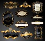 Uitstekende geplaatste Etiketten Stock Foto's