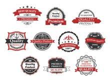 Uitstekende geplaatste etiketten en banners Stock Foto's