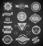 Uitstekende geplaatste etiketten. Vectorontwerpelementen. Royalty-vrije Stock Afbeelding
