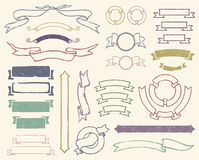 Uitstekende geplaatste linten Royalty-vrije Stock Afbeelding