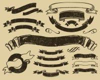Uitstekende geplaatste linten vector illustratie