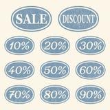 Uitstekende geplaatste verkooppictogrammen stock illustratie
