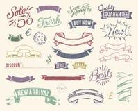 Uitstekende geplaatste verkooppictogrammen Stock Afbeelding