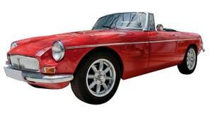 Uitstekende geïsoleerde, sport convertibele klassieke auto Stock Afbeelding