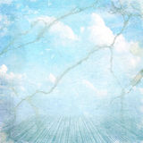 Uitstekende geweven achtergrond met wolken stock illustratie