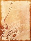 Uitstekende geweven bloemenachtergrond met ruimte Stock Afbeelding