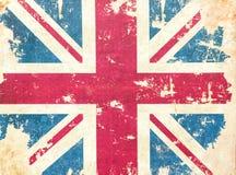 Uitstekende geweven de vlagachtergrond van het grungeverenigd koninkrijk royalty-vrije stock afbeeldingen