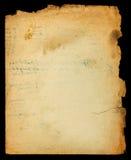 Uitstekende geweven slordige document pagina met haveloze randen Royalty-vrije Stock Foto's