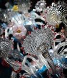 Uitstekende glaskroonluchter Royalty-vrije Stock Foto