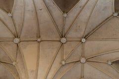 Uitstekende Gotische patroontextuur van binnenlandse plafonds stock afbeelding