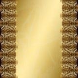 Uitstekende gouden achtergrond Stock Foto
