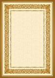 Uitstekende gouden achtergrond, antiek stijlkader Royalty-vrije Stock Foto