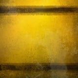 Uitstekende gouden achtergrond met bruine strepen en verontruste oude langzaam verdwenen textuur en vlekken royalty-vrije stock afbeeldingen