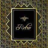 Uitstekende gouden achtergrond Retro stijlkader van jaren '20 Royalty-vrije Stock Foto's