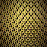 Uitstekende gouden achtergrond, vector sierpatroon Stock Foto