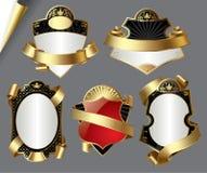 Uitstekende gouden etiketten vector illustratie