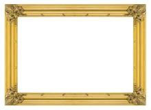 Uitstekende gouden houten omlijsting Stock Afbeeldingen