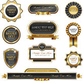 Uitstekende gouden kader vectorbanners Stock Afbeelding