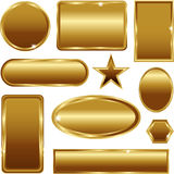 Uitstekende gouden kader vectorbanners Royalty-vrije Stock Fotografie