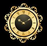 Uitstekende gouden klok Stock Foto