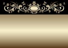 Uitstekende gouden Pasen kaart Royalty-vrije Stock Foto's
