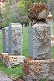 Uitstekende Grafstenen Stock Foto's