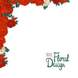Uitstekende grens met rozen Royalty-vrije Stock Afbeeldingen
