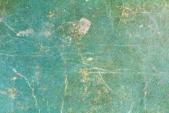 Uitstekende Groenboektextuur met schade en vlekken abstracte achtergrond royalty-vrije stock fotografie