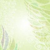 Uitstekende groene abstracte bloemen verlaten achtergrond Stock Afbeeldingen