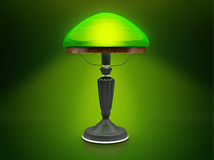 Uitstekende groene lamp Stock Foto