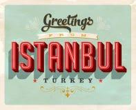 Uitstekende groeten de vakantiekaart van van Istanboel, Turkije vector illustratie