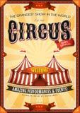 Uitstekende Grote Circusaffiche met Markttent vector illustratie
