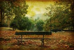 Uitstekende grungeachtergrond van een de herfstscène in Piek Stock Afbeeldingen