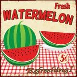 De uitstekende affiche van de watermeloen Royalty-vrije Stock Afbeeldingen