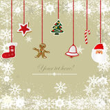 Uitstekende, grungy Kerstmisachtergrond Royalty-vrije Stock Afbeelding