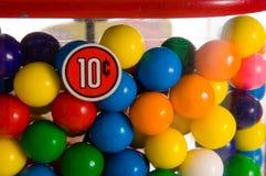 Uitstekende gumballmachine Stock Foto