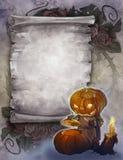 Uitstekende Halloween-achtergrond Stock Afbeeldingen