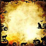 Uitstekende Halloween-kaderachtergrond of textuur Stock Foto's