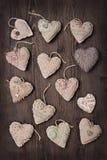 Uitstekende harten Stock Foto