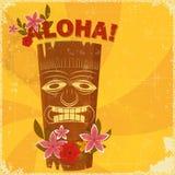 Uitstekende Hawaiiaanse prentbriefkaar Stock Fotografie