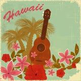 Uitstekende Hawaiiaanse prentbriefkaar Stock Foto