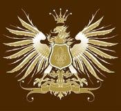 Uitstekende heraldische adelaar Stock Foto's
