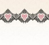 Uitstekende het behangachtergrond van de huwelijks moderne uitnodiging Royalty-vrije Stock Foto