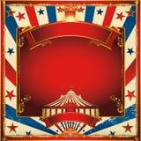 Uitstekende het circusachtergrond van Nice met grote bovenkant Royalty-vrije Stock Afbeeldingen