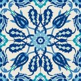 Uitstekende het decor overladen naadloze bloemendecoratie van het Arabesquedamast stock illustratie